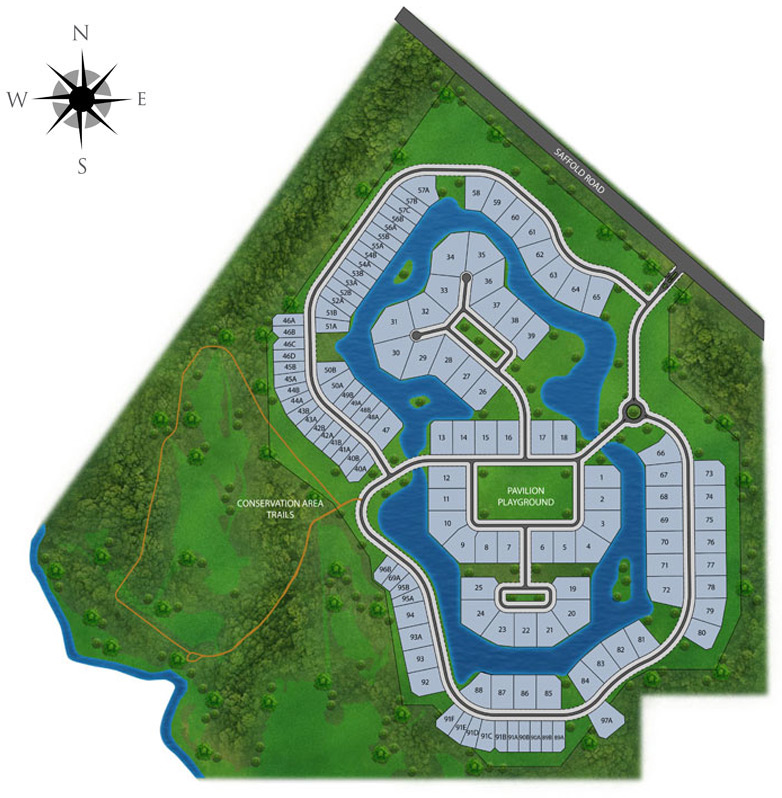 Lake Toscana site map